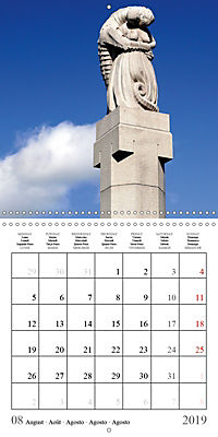 Vigeland Sculpture Park Oslo (Wall Calendar 2019 300 × 300 mm Square) - Produktdetailbild 8