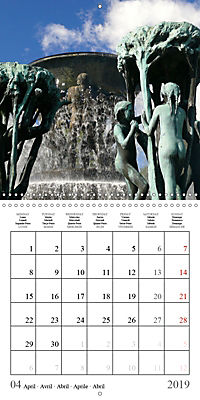 Vigeland Sculpture Park Oslo (Wall Calendar 2019 300 × 300 mm Square) - Produktdetailbild 4