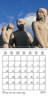 Vigeland Sculpture Park Oslo (Wall Calendar 2019 300 × 300 mm Square) - Produktdetailbild 6