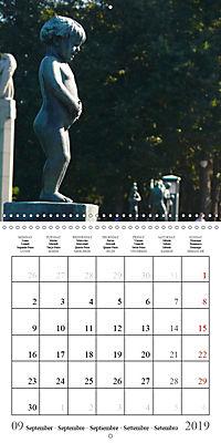 Vigeland Sculpture Park Oslo (Wall Calendar 2019 300 × 300 mm Square) - Produktdetailbild 9