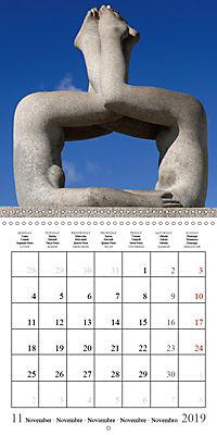 Vigeland Sculpture Park Oslo (Wall Calendar 2019 300 × 300 mm Square) - Produktdetailbild 11
