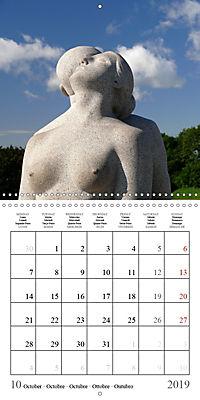 Vigeland Sculpture Park Oslo (Wall Calendar 2019 300 × 300 mm Square) - Produktdetailbild 10