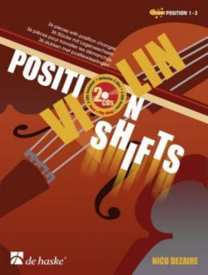 Violin - Position Shifts, m. 2 Audio-CDs, Nico Dezaire