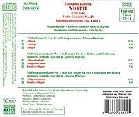 Violinkonzert 23/Sinf. 1&2*Sis - Produktdetailbild 1