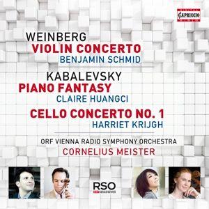 Violinkonzert/Klavierfantasie/Cellokonzert, Schmid, Huangci, Krijgh, Meister, Orf Rso Wien