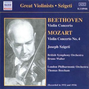 Violinkonzerte, Joseph Szigeti, Beecham, Walter