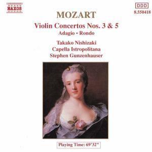 Violinkonzerte 3+5/Rondo/+, Nishizaki, Gunzenhauser, Cib