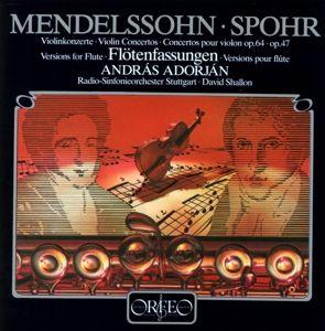 Violinkonzerte E-Moll Op.64/A-Moll Op.47 (F.Flöte), András Adorján, Shallon, Rsos