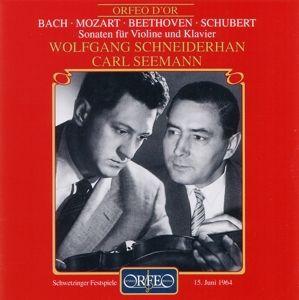 Violinsonaten Bwv 1016/Kv 454/Op.12,3/D 574, Schneiderhan, Seemann