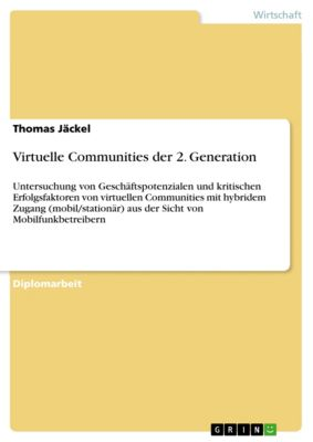 Virtuelle Communities der 2. Generation, Thomas Jäckel