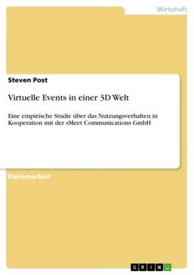 Virtuelle Events in einer 3D Welt, Steven Post