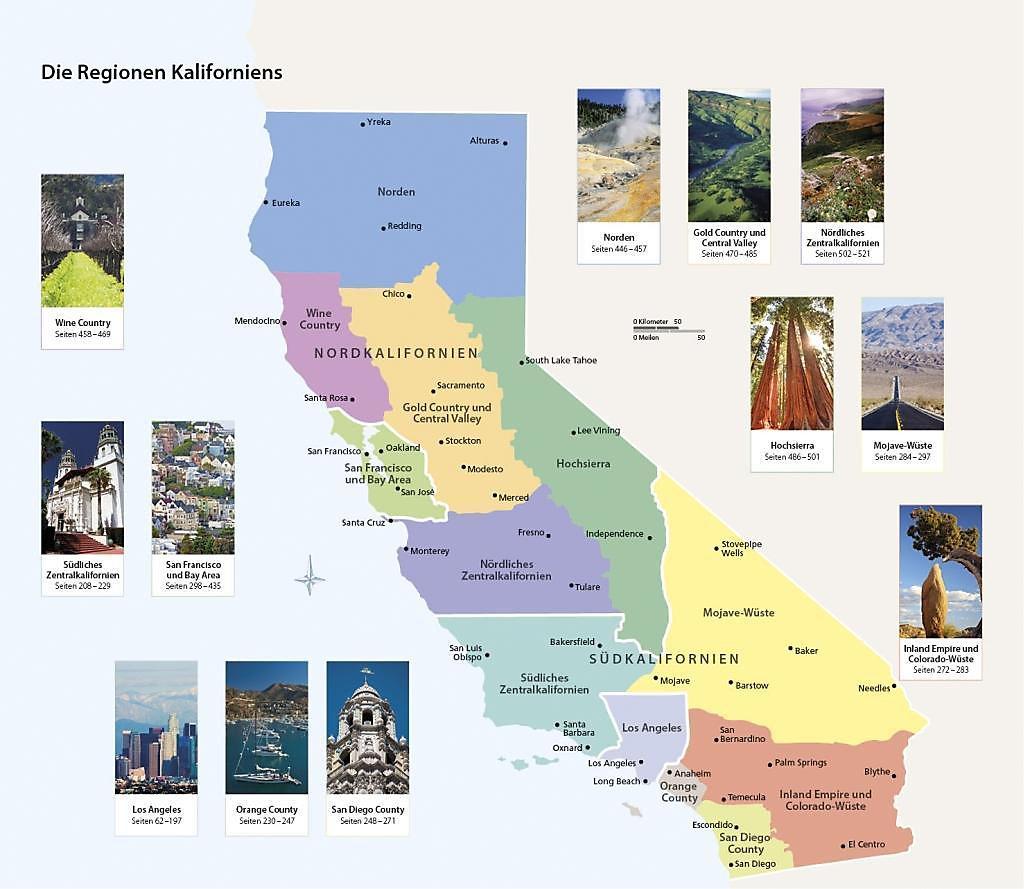 Kalifornien Karte.Vis à Vis Reiseführer Kalifornien M 1 Karte Buch Portofrei