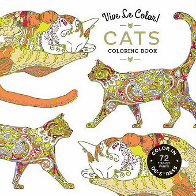 Vive Le Color! Cats Adult Coloring Book Buch portofrei bestellen