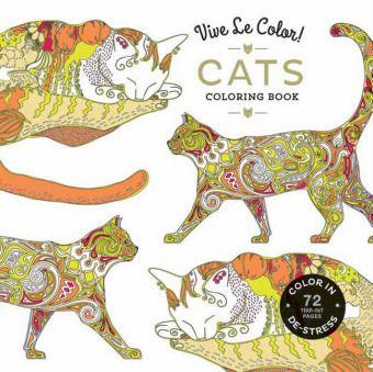Vive Le Color! Cats (Adult Coloring Book), Abrams Noterie