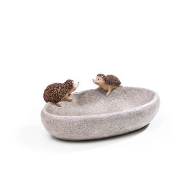 Das Bild Wird Geladen Vogeltraenke Mit Igel Vogelbad Stein – Tintnwrap
