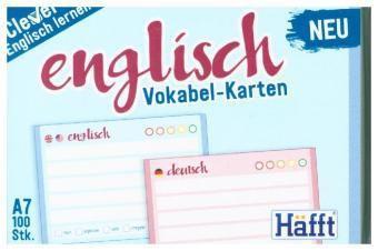 Vokabel-Karten Englisch 100 Stück A7, Standard einzeln -  pdf epub
