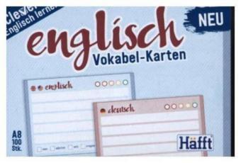 Vokabel-Karten Englisch 100 Stück A8, Standard einzeln