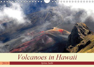 Volcanoes and Lava in Hawaii (Wall Calendar 2019 DIN A4 Landscape), Sylvia Seibl