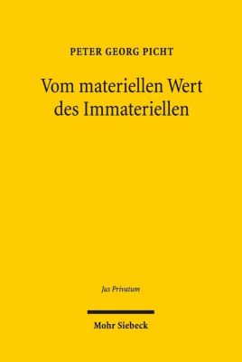 Vom materiellen Wert des Immateriellen, Peter Georg Picht