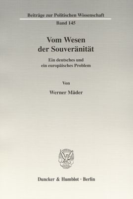 Vom Wesen der Souveränität., Werner Mäder