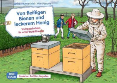 Von fleißigen Bienen und leckerem Honig. Kamishibai Bildkartenset. - Lydia Hauenschild |