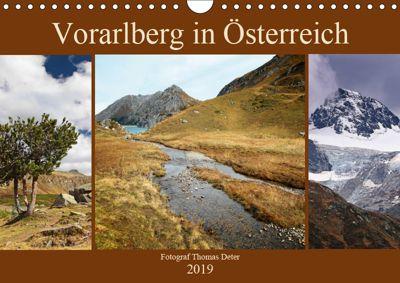 Vorarlberg in Österreich (Wandkalender 2019 DIN A4 quer), Thomas Deter