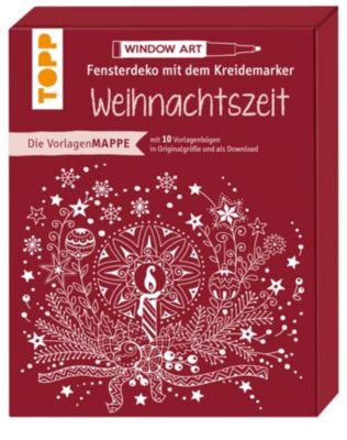 Vorlagenmappe Fensterdeko mit dem Kreidemarker - Weihnachtszeit - Ursula Schwab |