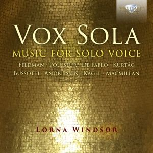 Vox Sola-Music For Solo Voice, Lorna Windsor