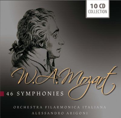 W.A. Mozart - 46 Symphonies, 10 CDs, Wolfgang Amadeus Mozart