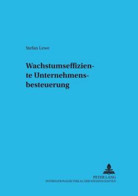 Wachstumseffiziente Unternehmensbesteuerung, Stefan Lewe