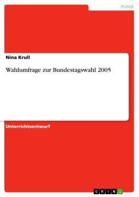 Wahlumfrage zur Bundestagswahl 2005, Nina Krull