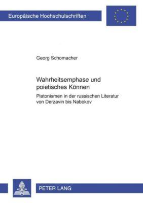 Wahrheitsemphase und poietisches Können, Georg Schomacher