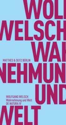 Wahrnehmung und Welt - Wolfgang Welsch  