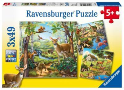 Wald- / Zoo- / Haustiere (Kinderpuzzle)