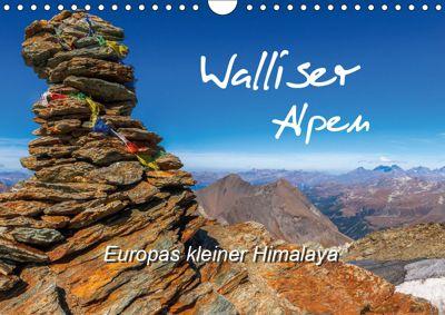Walliser Alpen - Europas kleiner HimalayaCH-Version (Wandkalender 2019 DIN A4 quer), Michael Prittwitz