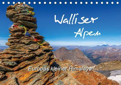 Walliser Alpen - Europas kleiner HimalayaCH-Version (Tischkalender 2019 DIN A5 quer), Michael Prittwitz