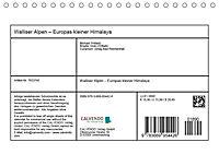 """Walliser Alpen - Europas """"kleiner"""" HimalayaCH-Version (Tischkalender 2019 DIN A5 quer) - Produktdetailbild 13"""
