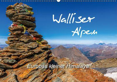 Walliser Alpen - Europas kleiner HimalayaCH-Version (Wandkalender 2019 DIN A2 quer), Michael Prittwitz