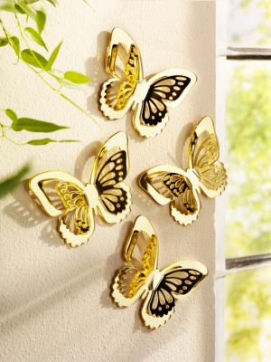 Wand-Schmetterlinge, goldfarben, 4er-Set bestellen   Weltbild.at