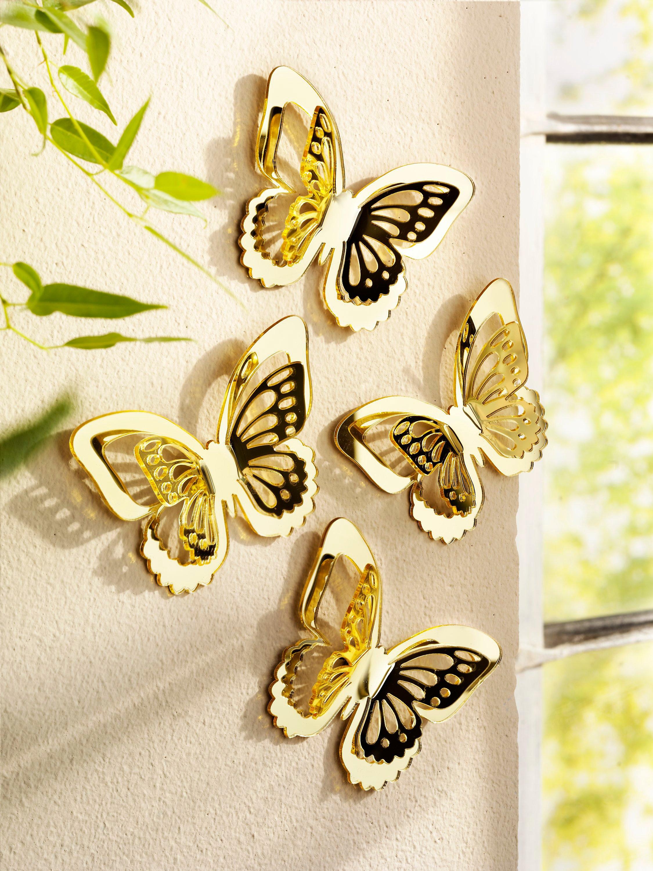 Wand-Schmetterlinge, goldfarben, 4er-Set bestellen | Weltbild.de