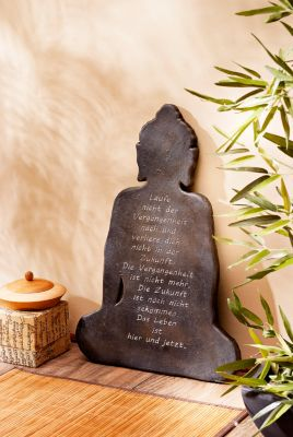 Wandbild Buddha mit Spruch
