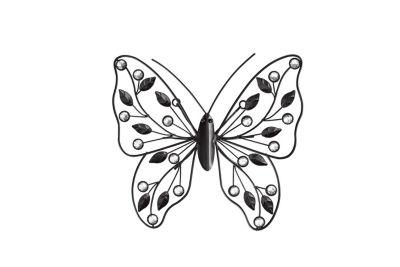 Wandddeko Schmetterling, 25 cm