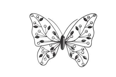 Wandddeko Schmetterling, 39 cm