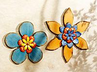 """Wanddeko """"Holzblüte"""", blau - Produktdetailbild 1"""