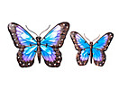 Wanddeko Schmetterling, 2er-Set