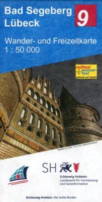 Wander- und Freizeitkarte Bad Segeberg - Lübeck