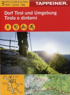 Wanderkarte Dorf Tirol und Umgebung