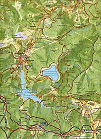 Wanderkarte Masserberg, Katzhütte, Oberes Schwarzatal - Produktdetailbild 1