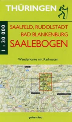 Wanderkarte Saalfeld, Rudolstadt, Bad Blankenburg am Saalebogen