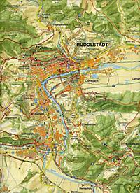 Wanderkarte Saalfeld, Rudolstadt, Bad Blankenburg am Saalebogen - Produktdetailbild 1